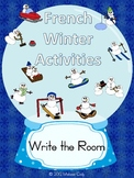 French Winter Activities Vocabulary -- Write the Room, Mem