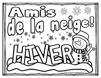 French Winter Activity (4 pages)