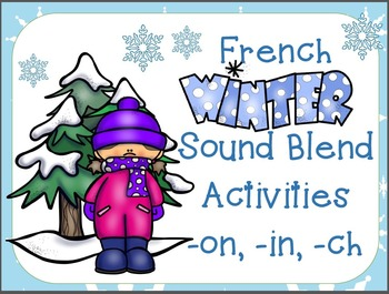 French Winter Activity Bundle - 2 Literacy & 2 Math Centres!