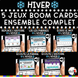 French Winter BOOM Cards - BUNDLE 5 Jeux (Thème HIVER)
