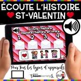 French Winter BOOM Cards - Écoute et replace l'histoire. (ST-VALENTIN : Jeu 5)