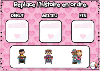 French Winter BOOM Cards - Replace l'histoire en ordre. (ST-VALENTIN : Jeu 4)