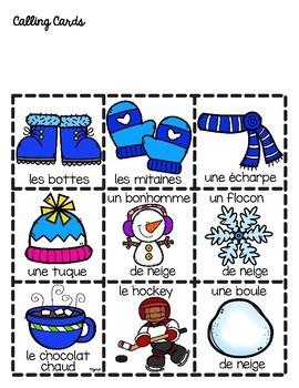French Winter Bingo