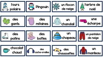 French Winter Bingo (Bingo d'hiver)