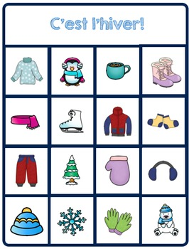 French Winter Bingo (Bingo d'hiver)