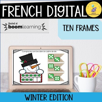 French Winter Boom Cards Ten Frames I Numbers 1-10