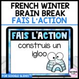 French Winter Brain Break-Fais l'action pause active d'hiver