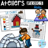 French Winter Building blocs mats/ Atelier Blocs construct