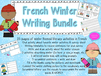 French Winter Bundle- Writing