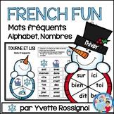 French Winter Centre Activities  - Mots fréquents, nombres et alphabet, L'hiver