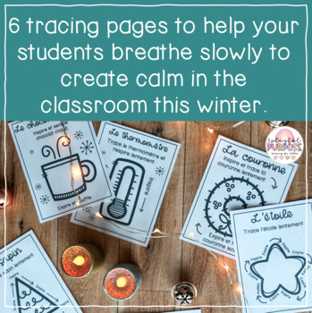 French Winter / Christmas Breathing Tracers // Create Calm in the Classroom