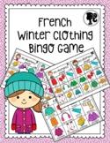 French Winter Clothing Bingo Game - Bingo des Vêtements d'