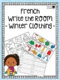 French Winter Clothing Write the Room - Écris la Salle des