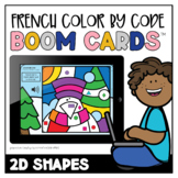 French Winter Colour by Code: 2D Shapes   Distance Learning