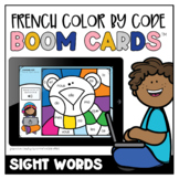 French Winter Colour by Code: Sight Words   Distance Learning