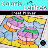 French Winter Color by Letter | Coloriages Magiques Hiver