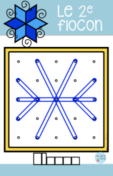 French Winter Geoboards Cards/ Atelier Géoplans {HIVER}
