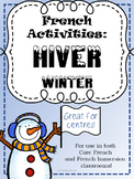 French Winter/Hiver Activities - Ontario Core French/Frenc