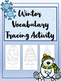 French Winter/Hiver Vocabulary Tracing for Core French & F