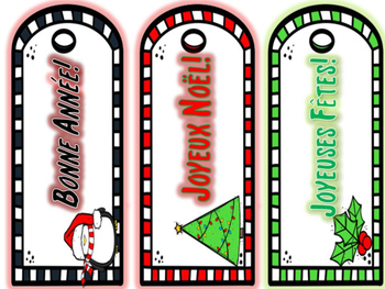 French Winter Holiday Bookmarks