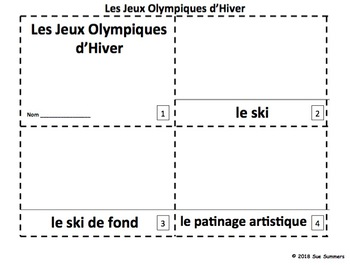 French Winter Olympic Sports 2 Emergent Readers - Jeux Olympiques d'Hiver