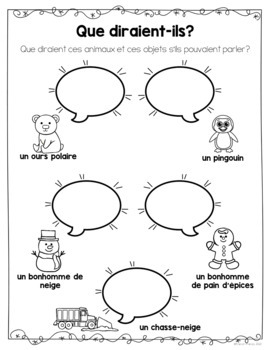French Winter Package and Vocabulary (Hiver - Activités et vocabulaire)