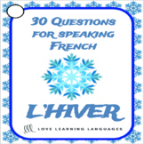French Winter Question Cards - 30 French Winter Speaking P
