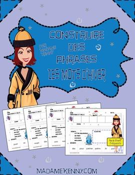 French Winter Sentence Builder-Construire des phrases d'hiver