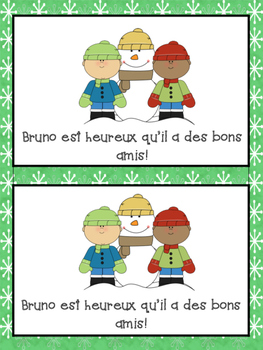 French Winter themed Short Story- Reading Booklet