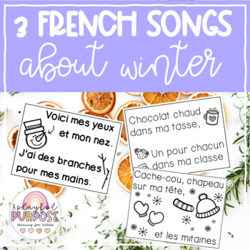 4 French Winter Songs // Print, Post and Sing Anchor Chart Songs