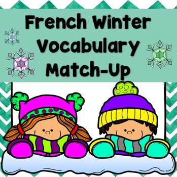 French Winter Vocabulary Match-Up
