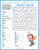 FRENCH WINTER VOCABULARY Word Search Puzzle Worksheet Activity
