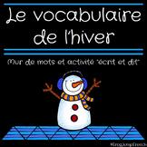 Mur de mots de l'hiver // French Winter Word Wall