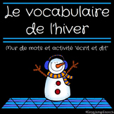 Mur de mots de l'hiver // French Winter Word Wall