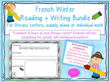 French Winter Writing Bundle- Scrambled Sentences
