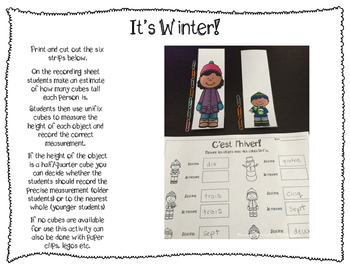French Winter math centers