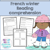 French - Winter reading comprehension sheets