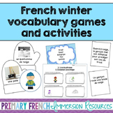 French Winter vocabulary and reading comprehension games - La compréhension