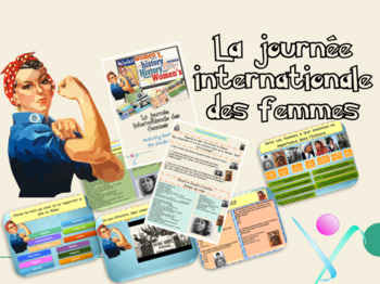 French Women History Month : activities printables powerpoint full lesson