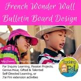 French Wonder Wall Bulletin Board / Ensemble de babillard