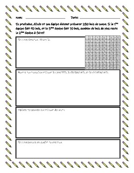 French Word Problems for Grade 3