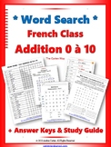 French Mots Cachés (Word Search) Addition 0 à 10 with Stud