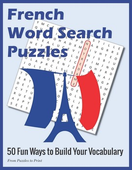 French Word Search Puzzle Bundle