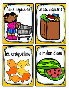 French Word Wall • Grocery Store • L'ÉPICERIE