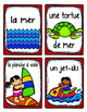 French Word Wall Card Collection - À LA PLAGE