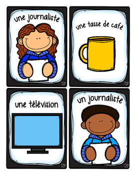 French Word Wall Card Collection - LES JOURNALISTES