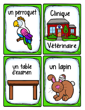 French Word Wall Card Collection - LES VÉTÉRINAIRES