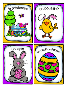 French Word Wall Card Collection - PÂQUES