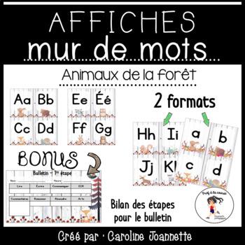 French Word Wall Cards / Affichages pour le mur de mots