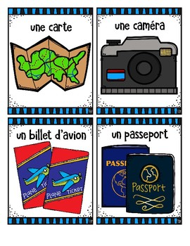 French Word Wall • Summer Vacation • EN VACANCES